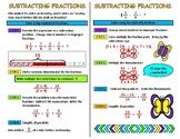 Subtracting Fractions Interactive Notebook