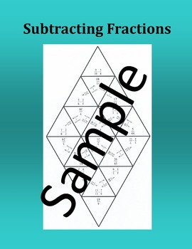 Subtracting Fractions – Math puzzle