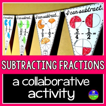 Subtracting Fractions Pennant