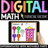 Subtracting Fractions Practice - Digital - Interactive Mat