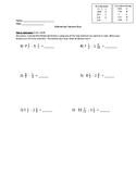 Subtracting Fractions Quiz