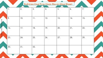 Subtracting Fractions Task Cards