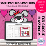 Subtracting Fractions | Valentines Mystery Picture