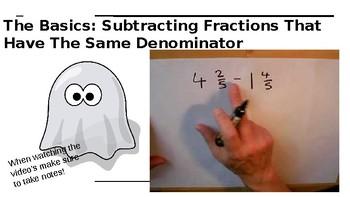 Subtracting Fractions Webquest