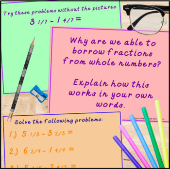 Subtracting Fractions With Regrouping Powerpoint