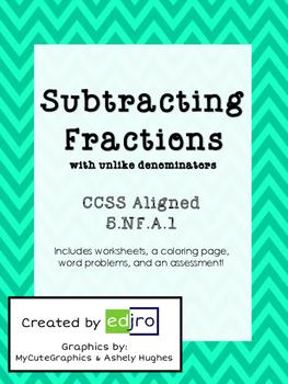 Subtracting Fractions With Unlike Denominators