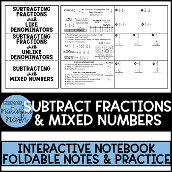 Subtracting Fractions & Mixed Numbers