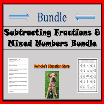 Subtracting Fractions and Mixed Numbers Bundle