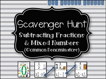 Subtracting Fractions and Mixed Numbers (Common Denominato