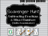 Subtracting Fractions and Mixed Numbers (Unlike Denominato