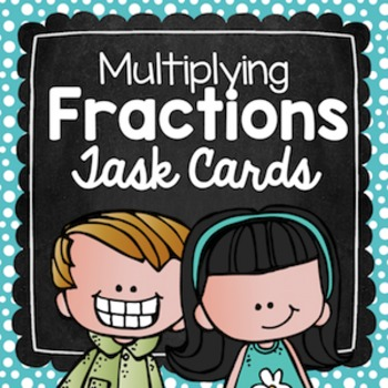Multiplying Fractions Task Cards for Centers, Review, Scoot, & Test Prep