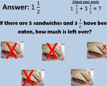 5.NF.A. Subtracting Fractions from Whole Numbers Visual
