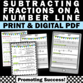 Subtracting Fractions with Unlike Denominators Worksheets and Word Problems