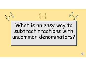 Subtracting Fractions w/ Unlike Demoniators Made Easy