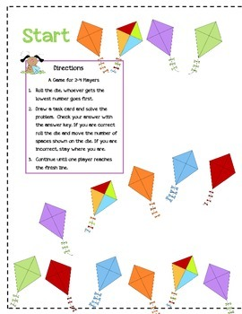 Subtracting Fractions with Borrowing File Folder Game