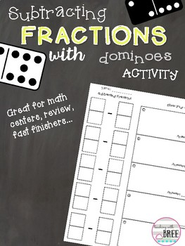 Subtracting Fractions with Dominoes Activity