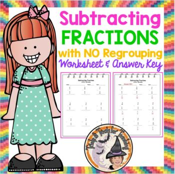 Subtracting Proper Fractions with NO Regrouping Subtract Subtraction