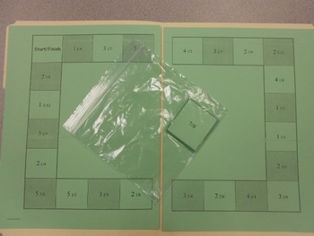 Subtracting Fractions with Regrouping Game