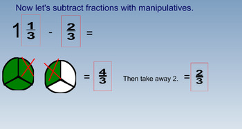 Subtracting Fractions with Regrouping and Practice Problems
