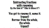 Subtracting Fractions with Renaming Song