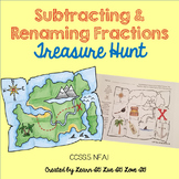 Subtracting Fractions with Renaming Treasure Hunt