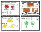 Subtracting Fractions with Visual Models Task/Scoot Cards