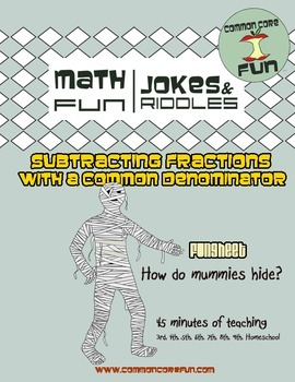 Subtracting Fractions with a Common Denominator
