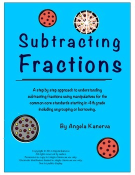 Subtracting Fractions with and without borrowing or regrouping