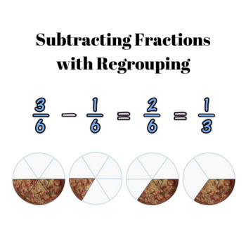 Subtracting Fractions with regrouping