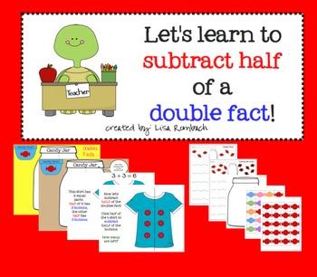 Subtracting Half a Double SmartBoard Lesson