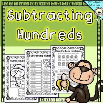 Subtracting Hundreds Worksheets / Hundreds Subtraction