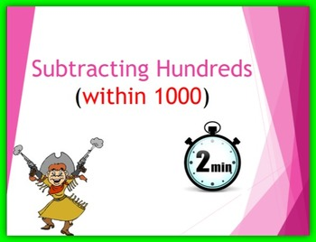 Subtracting Hundreds (within 1000)