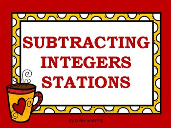 Subtracting Integers Stations