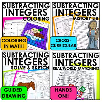 Subtracting Integers Lesson Bundle