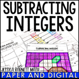 Subtracting Integers Resources - Lesson Bundle - Distance