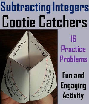Subtracting Integers Practice/ Subtracting Integers Game 5th 6th 7th 8th Grade