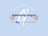 Subtracting Integers