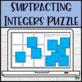 Subtracting Integers 3x3 Digital Puzzle