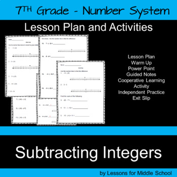 Subtracting Integers – 7th Grade Number System