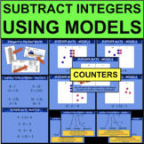Subtracting Integers Addition Models Number Line Mat PowerPoint Add Subtract
