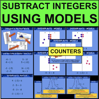 Subtracting Integers Addition With Models Number Lines & M