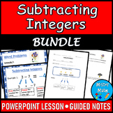 Subtracting Integers PowerPoint & Guided Notes BUNDLE
