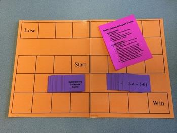 Subtracting Integers Board Game