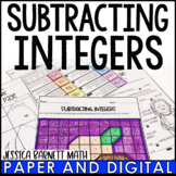 Subtracting Integers Activity Pack
