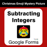Subtracting Integers - Christmas EMOJI Mystery Picture - G