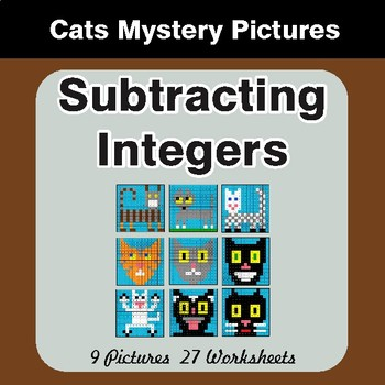 Subtracting Integers - Color-By-Number Math Mystery Pictures