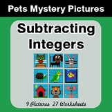Subtracting Integers - Color-By-Number Mystery Pictures -