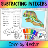 Subtracting Integers - Color by Number