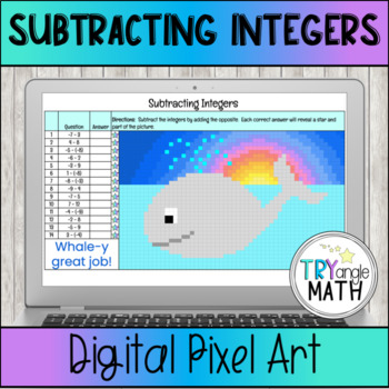 Subtracting Integers - Color by Number (Difference)