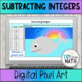 Subtracting Integers Digital Pixel Art